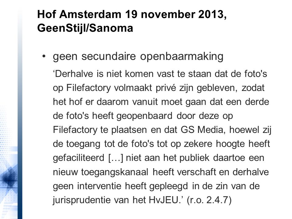 Hof Amsterdam 19 november 2013, GeenStijl/Sanoma