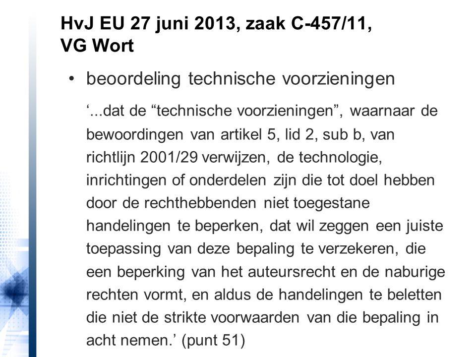 HvJ EU 27 juni 2013, zaak C-457/11, VG Wort