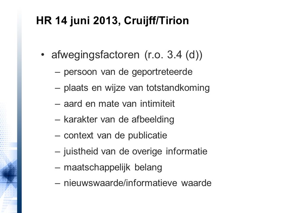 HR 14 juni 2013, Cruijff/Tirion