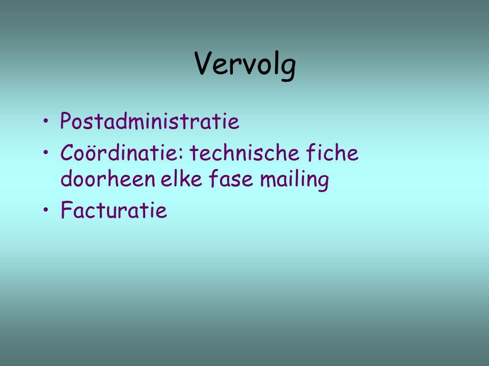 Vervolg Postadministratie