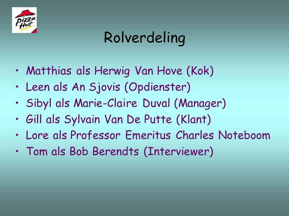 Rolverdeling Matthias als Herwig Van Hove (Kok)