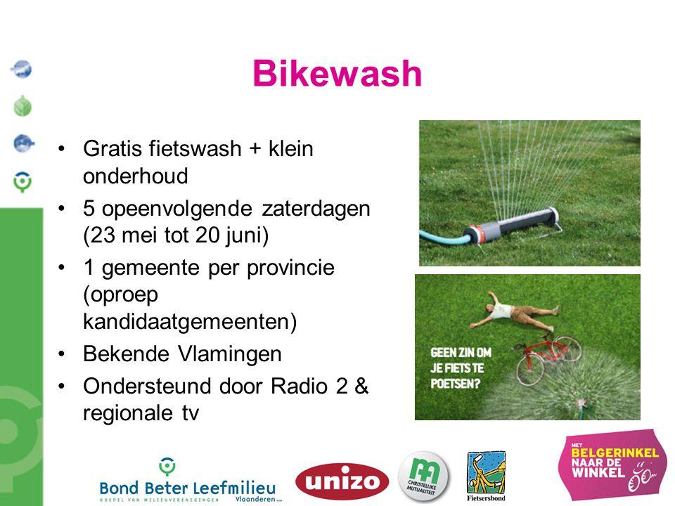 Bikewash Gratis fietswash + klein onderhoud