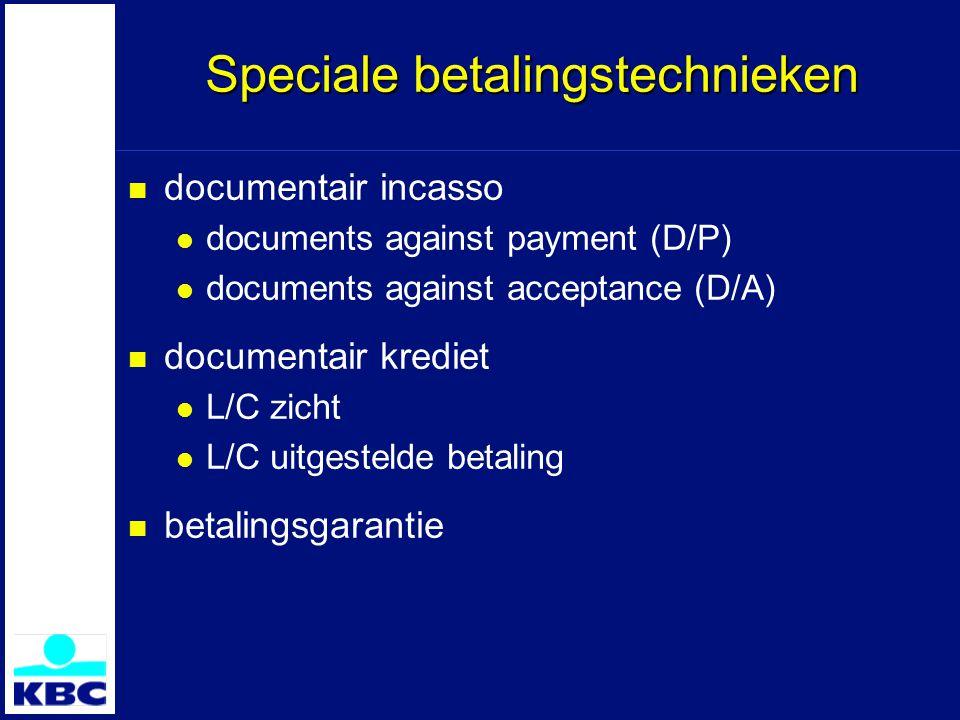 Speciale betalingstechnieken