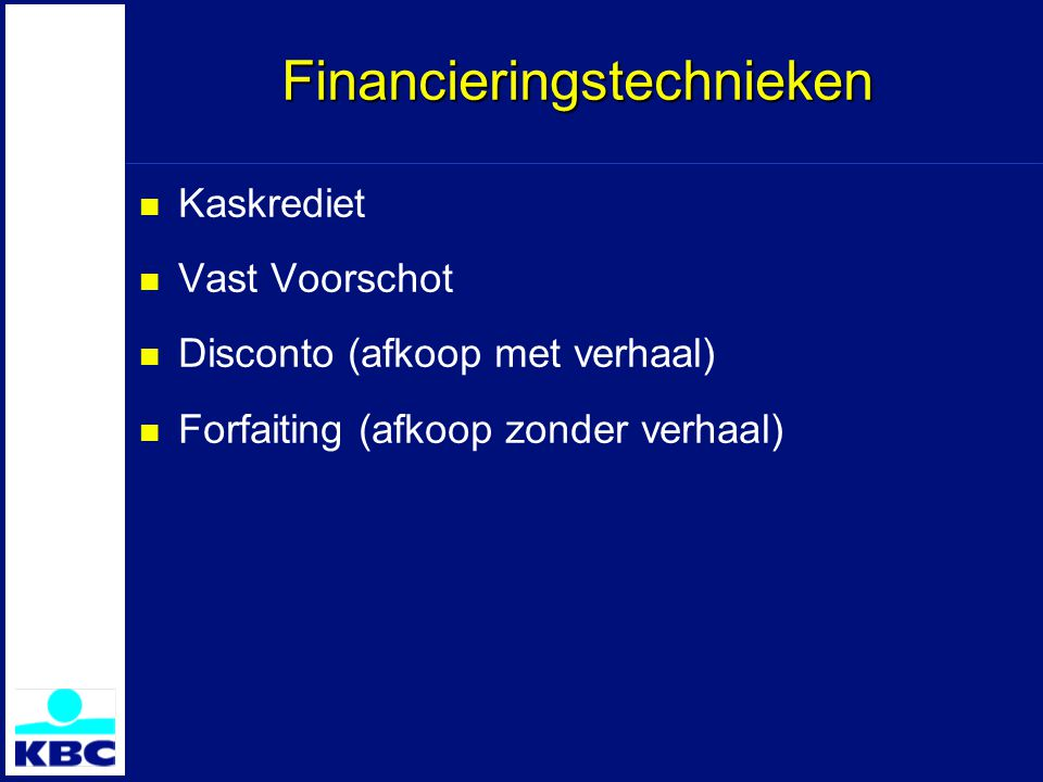Financieringstechnieken