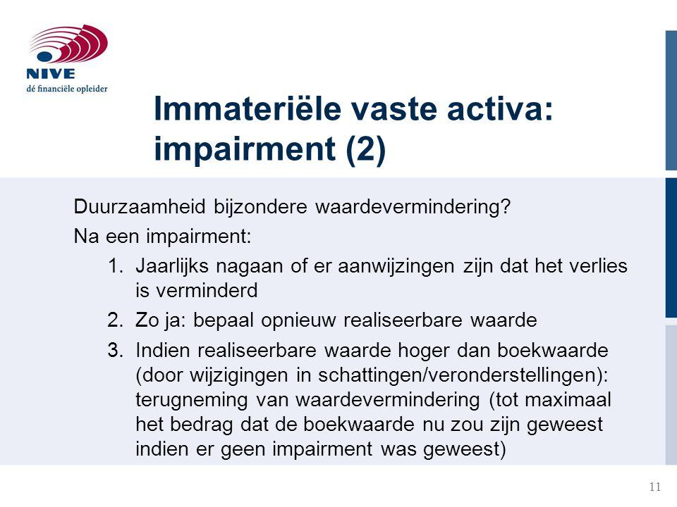 Immateriële vaste activa: impairment (2)