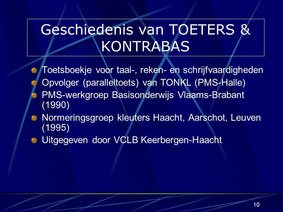Geschiedenis van TOETERS & KONTRABAS
