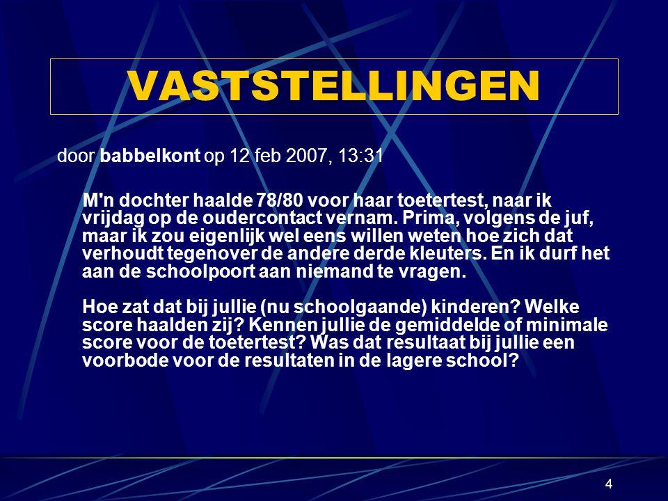 VASTSTELLINGEN door babbelkont op 12 feb 2007, 13:31