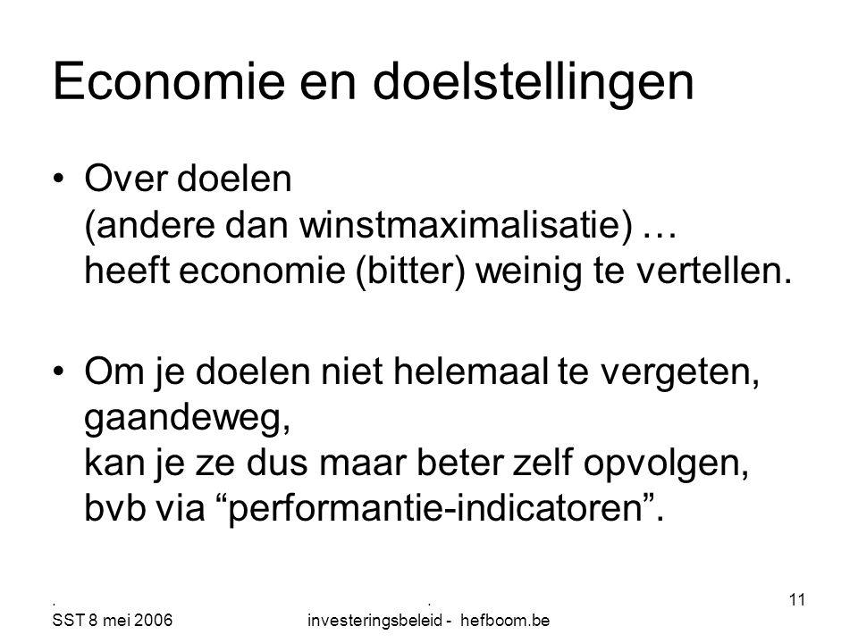 Economie en doelstellingen