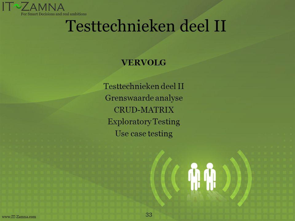 Testtechnieken deel II