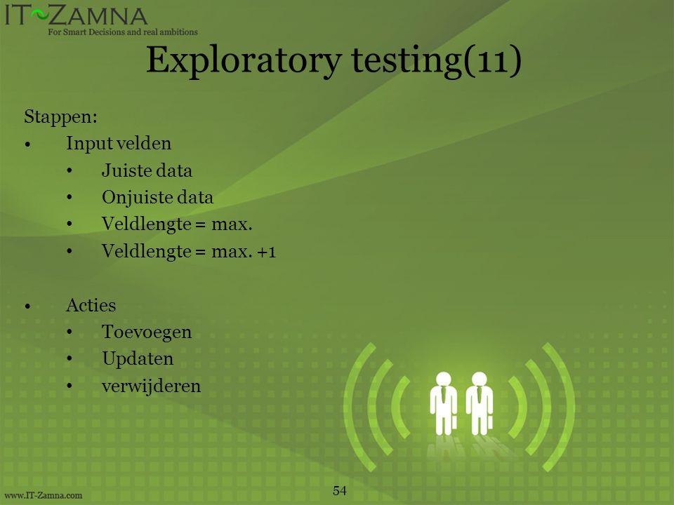 Exploratory testing(11)