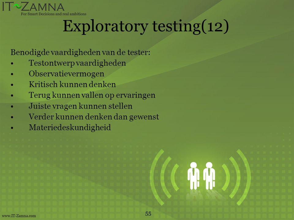 Exploratory testing(12)