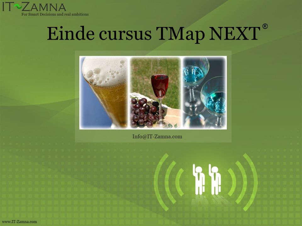 Einde cursus TMap NEXT ®