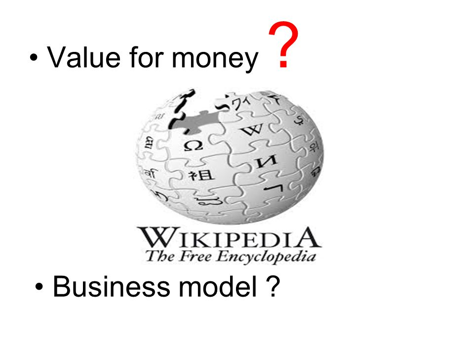 Value for money Business model