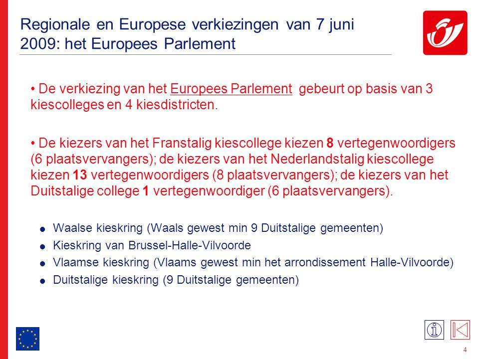 Regionale en Europese verkiezingen van 7 juni 2009: het Vlaams Parlement