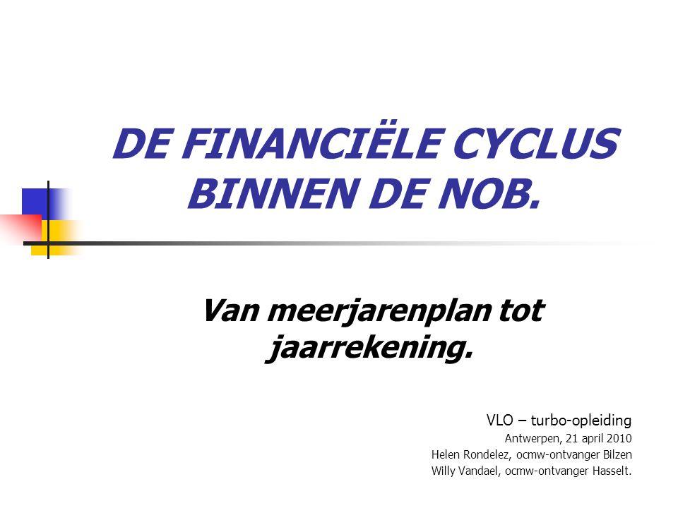DE FINANCIËLE CYCLUS BINNEN DE NOB.