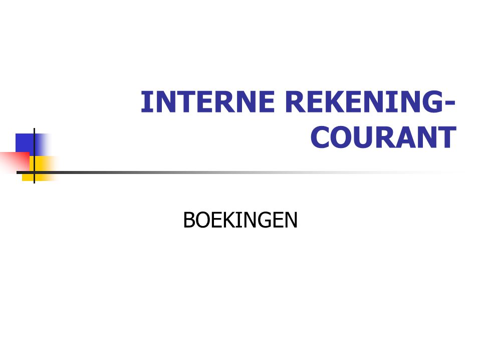 INTERNE REKENING-COURANT