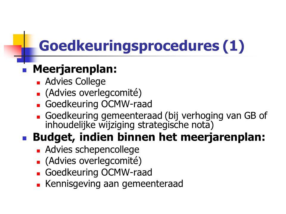 Goedkeuringsprocedures (1)