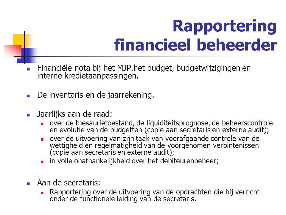 Rapportering financieel beheerder