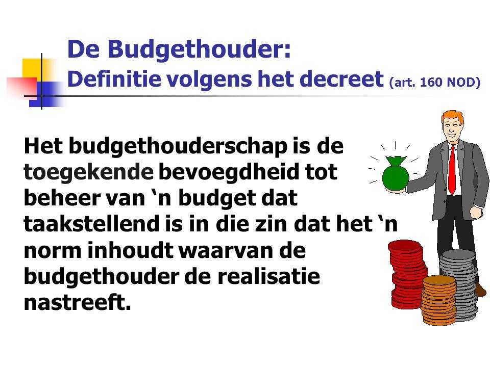 De Budgethouder: Definitie volgens het decreet (art. 160 NOD)