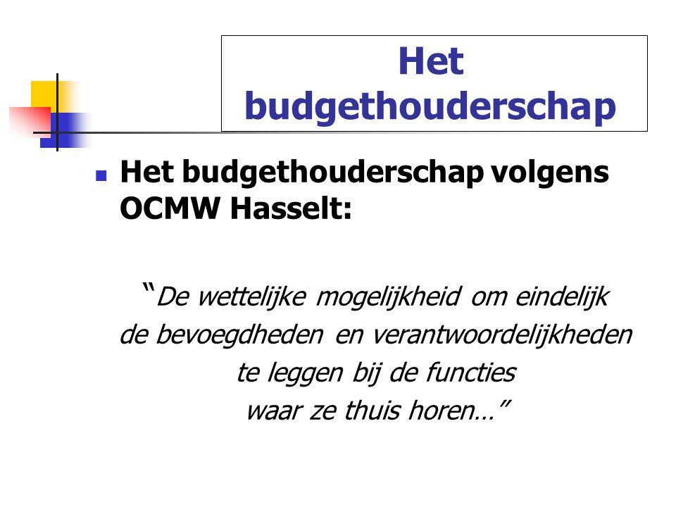 Het budgethouderschap