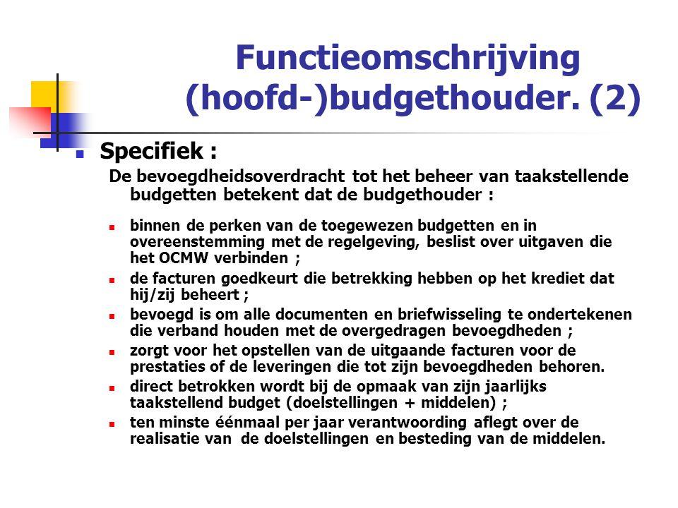 Functieomschrijving (hoofd-)budgethouder. (2)