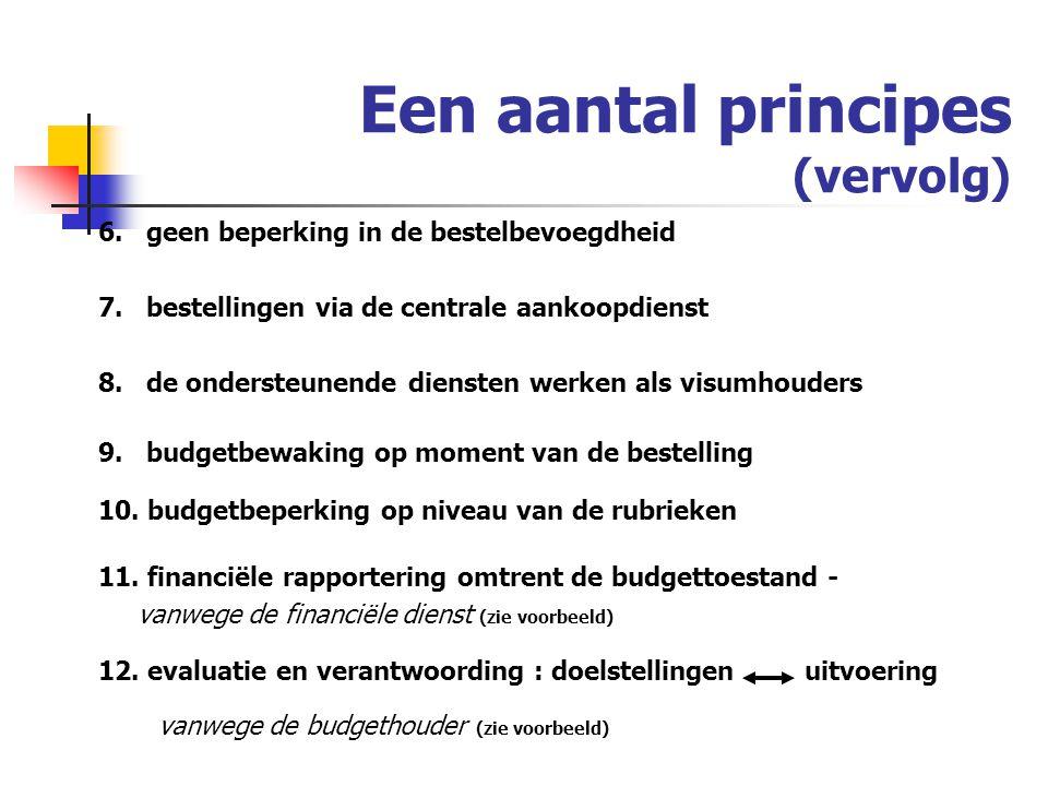 Een aantal principes (vervolg)