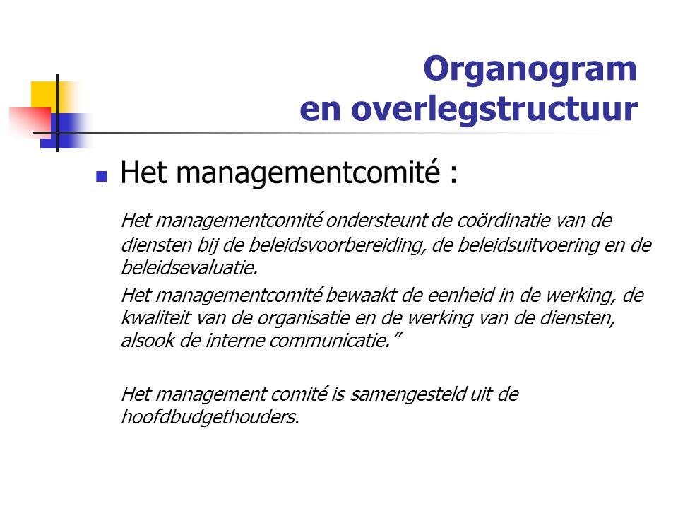 Organogram en overlegstructuur
