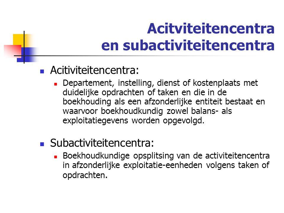 Acitviteitencentra en subactiviteitencentra
