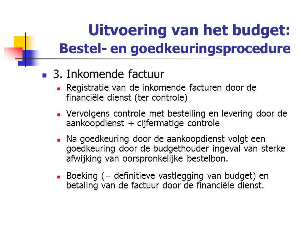 Uitvoering van het budget: Bestel- en goedkeuringsprocedure