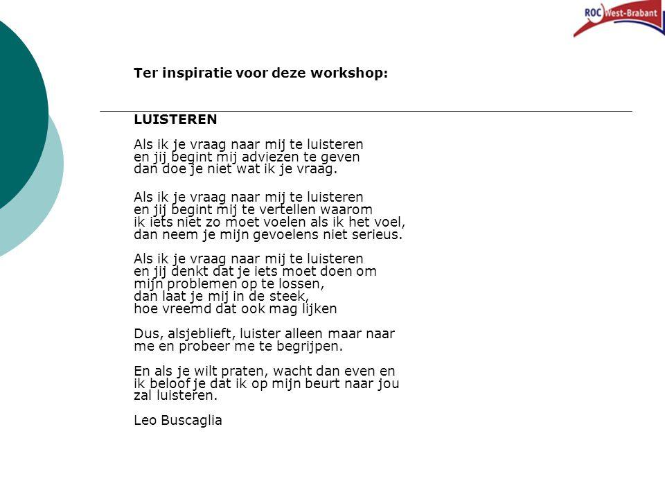 Ter inspiratie voor deze workshop: