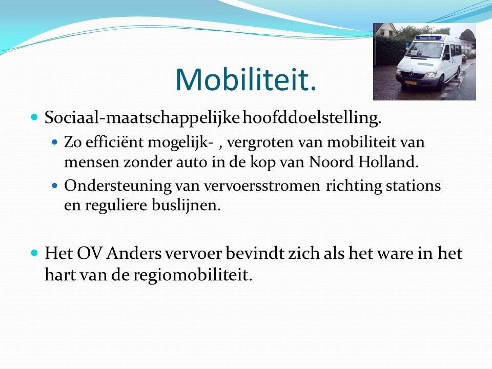 Mobiliteit. Sociaal-maatschappelijke hoofddoelstelling.