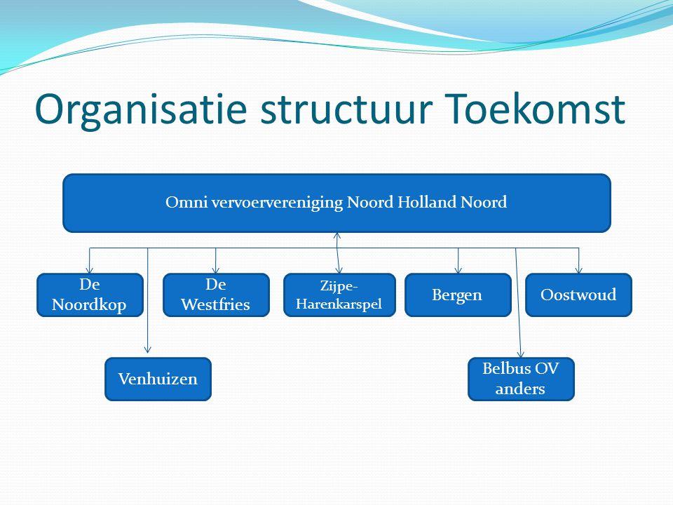 Organisatie structuur Toekomst