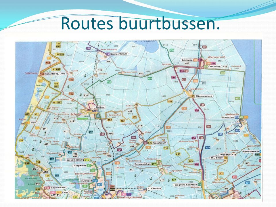 Routes buurtbussen.