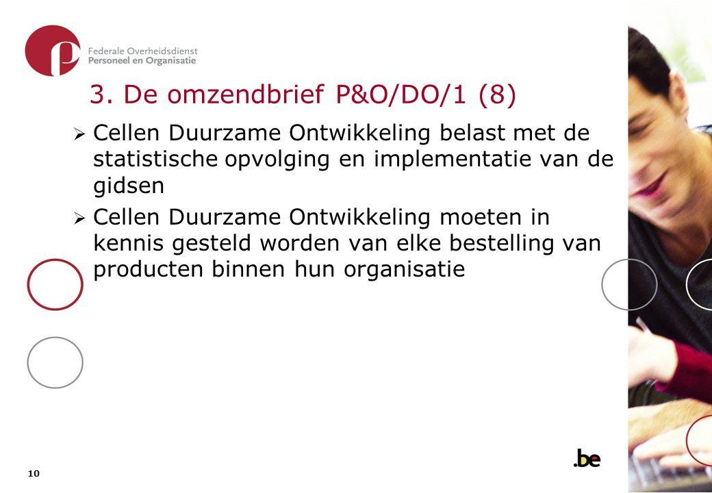 4. De omzendbrief 307quater Doelgroep: FOD's POD's