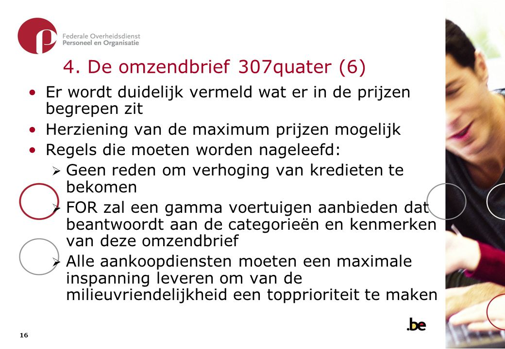 4. De omzendbrief 307quater (7)