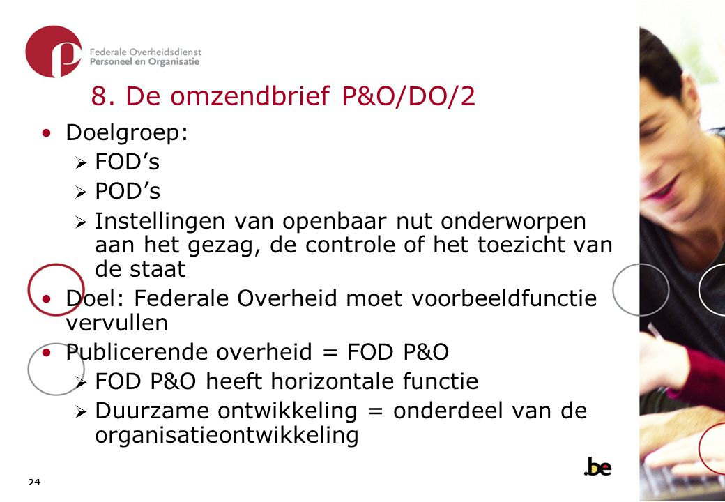 8. De omzendbrief P&O/DO/2 (2)