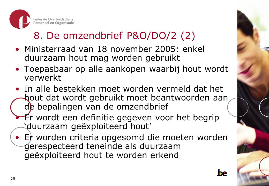 8. De omzendbrief P&O/DO/2 (3)