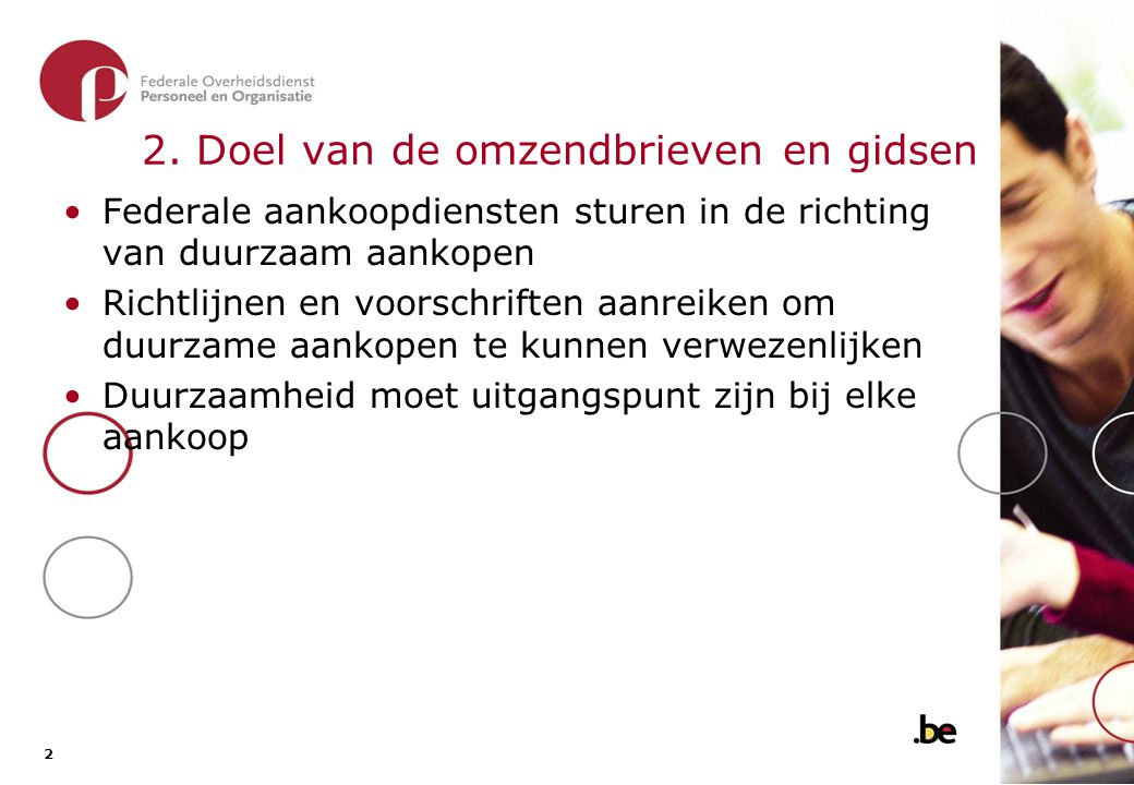 3. De omzendbrief P&O/DO/1