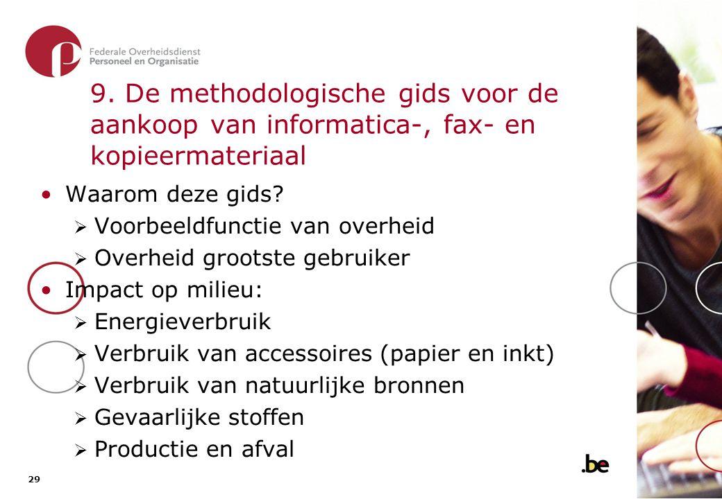 9. De methodologische gids voor de aankoop van informatica-, fax- en kopieermateriaal (2)