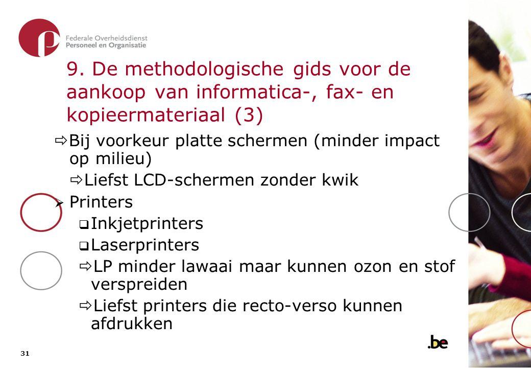 9. De methodologische gids voor de aankoop van informatica-, fax- en kopieermateriaal (4)
