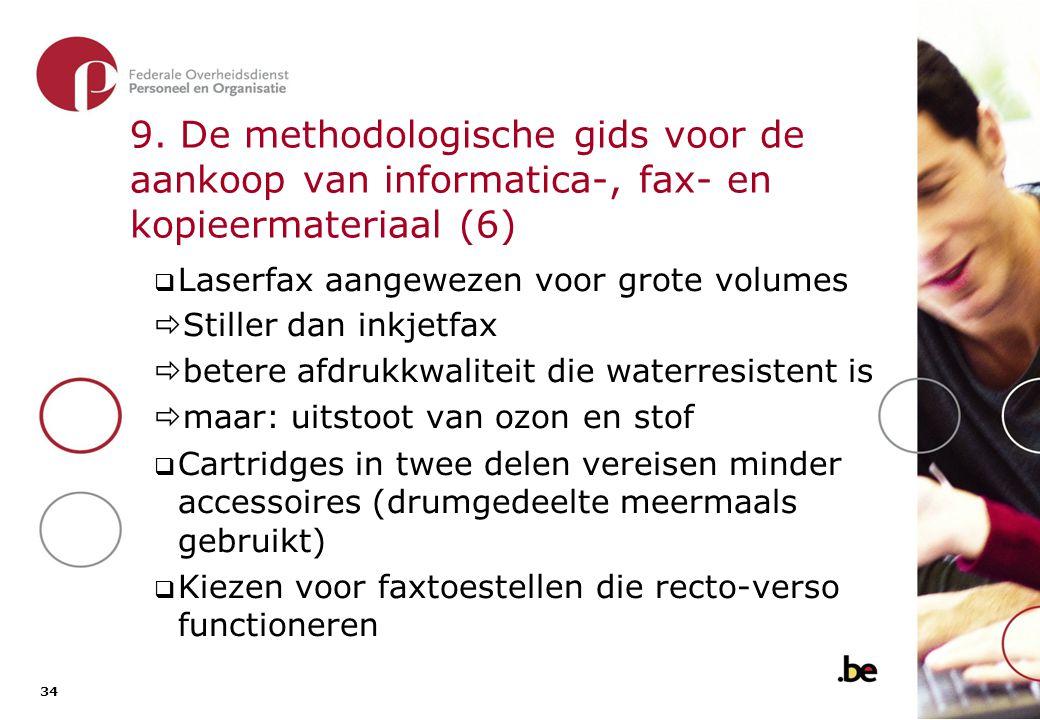 9. De methodologische gids voor de aankoop van informatica-, fax- en kopieermateriaal (7)