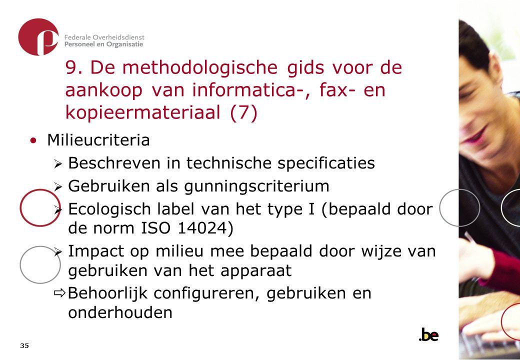 9. De methodologische gids voor de aankoop van informatica-, fax- en kopieermateriaal (8)