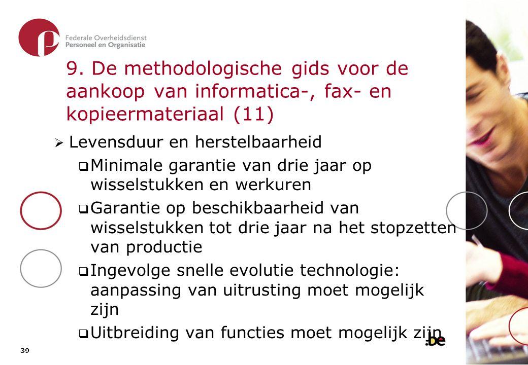 9. De methodologische gids voor de aankoop van informatica-, fax- en kopieermateriaal (12)