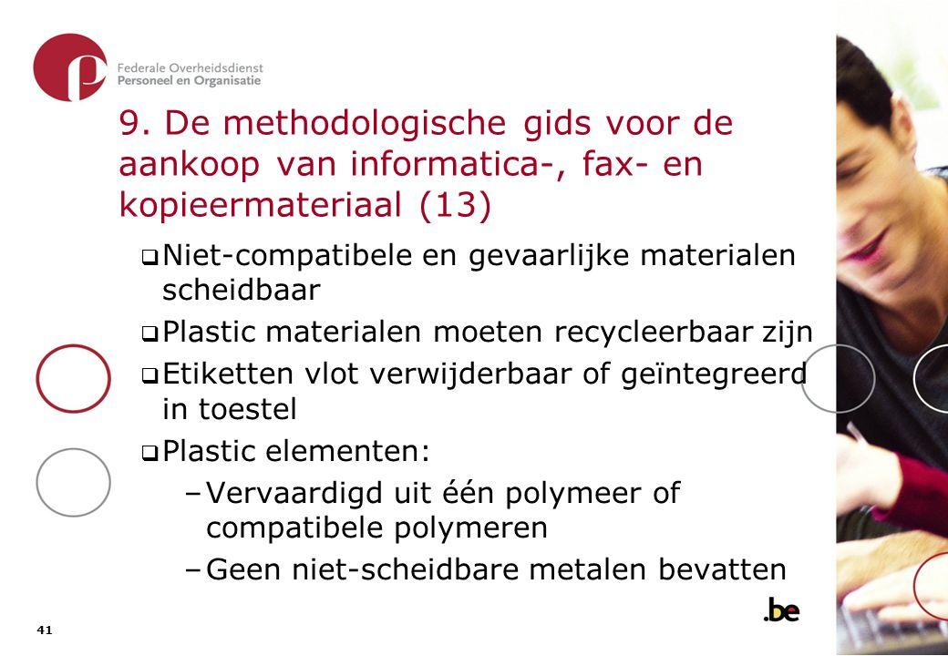 9. De methodologische gids voor de aankoop van informatica-, fax- en kopieermateriaal (14)