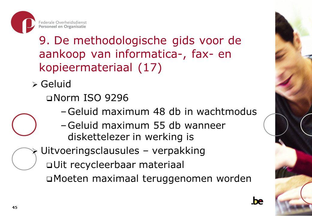 9. De methodologische gids voor de aankoop van informatica-, fax- en kopieermateriaal (18)