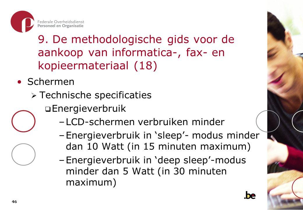 9. De methodologische gids voor de aankoop van informatica-, fax- en kopieermateriaal (19)