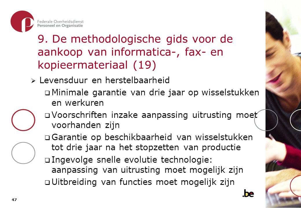 9. De methodologische gids voor de aankoop van informatica-, fax- en kopieermateriaal (20)