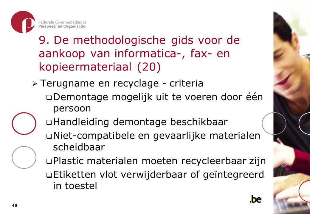 9. De methodologische gids voor de aankoop van informatica-, fax- en kopieermateriaal (21)