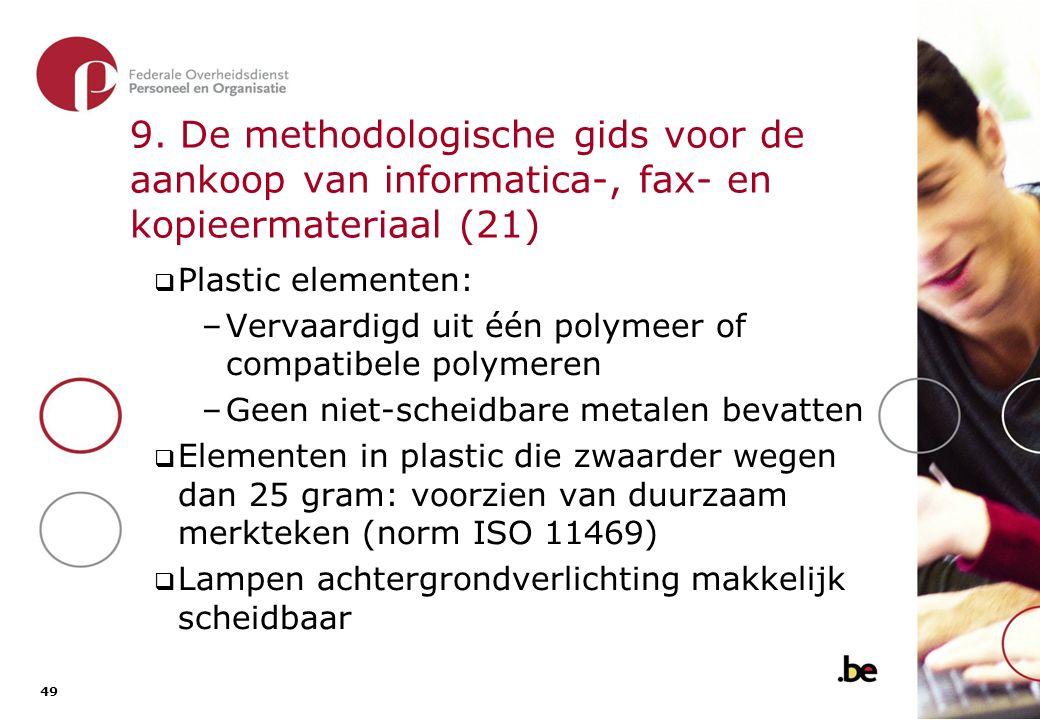 9. De methodologische gids voor de aankoop van informatica-, fax- en kopieermateriaal (22)