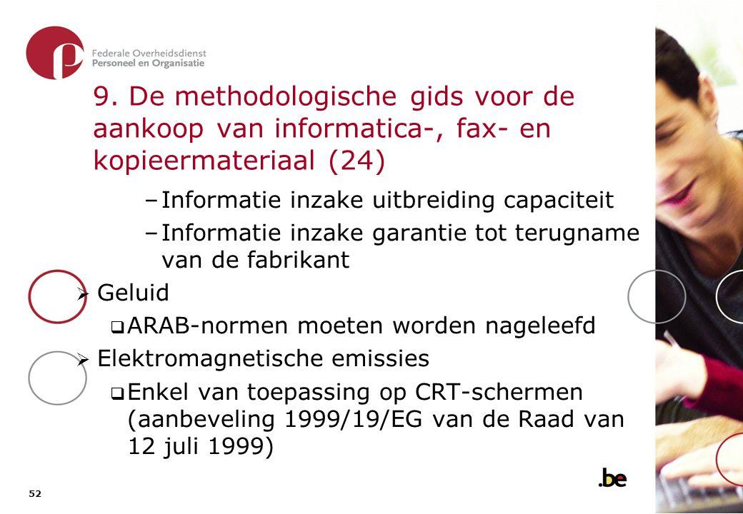 9. De methodologische gids voor de aankoop van informatica-, fax- en kopieermateriaal (25)
